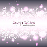 Tarjeta de felicitación del copo de nieve de la estrella de la Navidad ilustración del vector