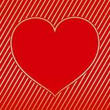 Tarjeta de felicitación del corazón del día de San Valentín fotografía de archivo libre de regalías