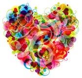 Tarjeta de felicitación del corazón del modelo, vector Imagen de archivo libre de regalías