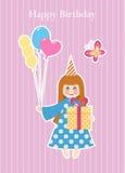 Tarjeta de felicitación del cumpleaños Imagen de archivo libre de regalías