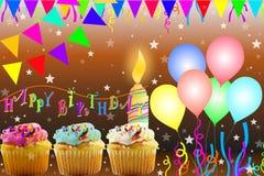 Tarjeta de felicitación del cumpleaños Fotografía de archivo libre de regalías