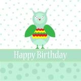 Tarjeta de felicitación del cumpleaños de la plantilla Imágenes de archivo libres de regalías