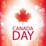 Tarjeta de felicitación del día de Canadá Imágenes de archivo libres de regalías