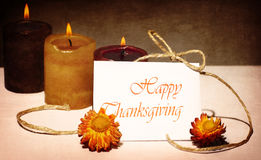 Tarjeta de felicitación del día de fiesta de acción de gracias Fotografía de archivo libre de regalías
