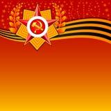 Tarjeta de felicitación del día de fiesta en el defensor del día de la patria 23 de febrero Fotografía de archivo libre de regalías