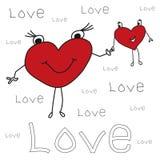 Tarjeta de felicitación del día de fiesta para el día de tarjeta del día de San Valentín con Imagenes de archivo