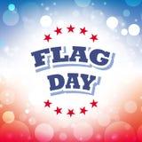 Tarjeta de felicitación del día de la bandera Imagenes de archivo