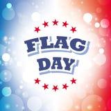 Tarjeta de felicitación del día de la bandera Imagen de archivo