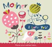Tarjeta de felicitación del día de madre Fotografía de archivo libre de regalías