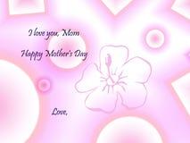 Tarjeta de felicitación del día de madre Fotografía de archivo