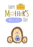 tarjeta de felicitación del día de madres Fotos de archivo libres de regalías