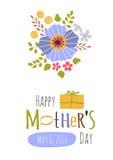 tarjeta de felicitación del día de madres Fotografía de archivo libre de regalías