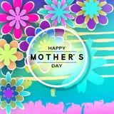 Tarjeta de felicitación del día de Mother's Fotos de archivo libres de regalías