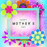 Tarjeta de felicitación del día de Mother's Foto de archivo libre de regalías