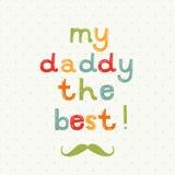 Tarjeta de felicitación del día de padre ilustración del vector