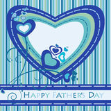 Tarjeta de felicitación del día de padres Imagen de archivo