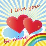 Tarjeta de felicitación del día de San Valentín del día de fiesta Imagen de archivo