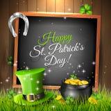 Tarjeta de felicitación del día de St Patrick Fotografía de archivo