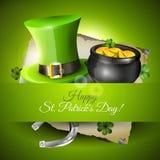 Tarjeta de felicitación del día de St Patrick Foto de archivo libre de regalías