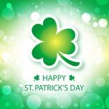 Tarjeta de felicitación del día de St Patrick feliz Fotografía de archivo libre de regalías