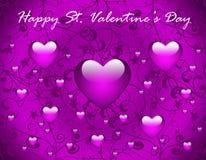 Tarjeta de felicitación del día de tarjeta del día de San Valentín Imagen de archivo libre de regalías