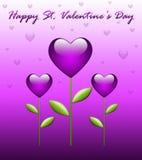 Tarjeta de felicitación del día de tarjeta del día de San Valentín Fotos de archivo