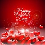 Tarjeta de felicitación del día de tarjeta del día de San Valentín Imagen de archivo