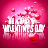 Tarjeta de felicitación del día de tarjeta del día de San Valentín Fotografía de archivo libre de regalías