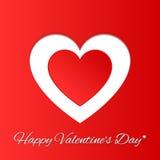 Tarjeta de felicitación del día de tarjeta del día de San Valentín Foto de archivo libre de regalías