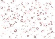 Tarjeta de felicitación del día de tarjeta del día de San Valentín con el corazón en el fondo blanco Fotos de archivo