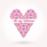 Tarjeta de felicitación del día de tarjeta del día de San Valentín con el texto elegante Imagen de archivo