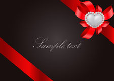 Tarjeta de felicitación del día de tarjeta del día de San Valentín del santo Imágenes de archivo libres de regalías