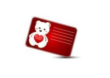 Tarjeta de felicitación del día de tarjeta del día de San Valentín del santo Imagen de archivo libre de regalías