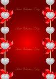 Tarjeta de felicitación del día de tarjeta del día de San Valentín del santo Foto de archivo