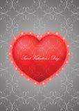 Tarjeta de felicitación del día de tarjeta del día de San Valentín del santo Fotografía de archivo libre de regalías