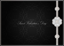 Tarjeta de felicitación del día de tarjeta del día de San Valentín del santo Fotografía de archivo
