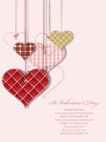 Tarjeta de felicitación del día de tarjeta del día de San Valentín del St Foto de archivo