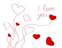 Tarjeta de felicitación del día de tarjetas del día de San Valentín Fotos de archivo libres de regalías