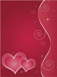 Tarjeta de felicitación del día de tarjetas del día de San Valentín Imagen de archivo