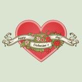 Tarjeta de felicitación del día de tarjetas del día de San Valentín Foto de archivo libre de regalías