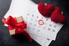 Tarjeta de felicitación del día de tarjetas del día de San Valentín Foto de archivo