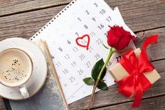 Tarjeta de felicitación del día de tarjetas del día de San Valentín Fotografía de archivo