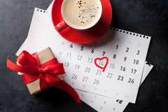 Tarjeta de felicitación del día de tarjetas del día de San Valentín Fotografía de archivo libre de regalías