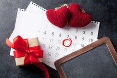 Tarjeta de felicitación del día de tarjetas del día de San Valentín Imágenes de archivo libres de regalías
