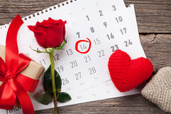 Tarjeta de felicitación del día de tarjetas del día de San Valentín Imagenes de archivo