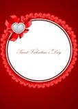 Tarjeta de felicitación del día de tarjetas del día de San Valentín del santo Foto de archivo