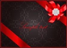 Tarjeta de felicitación del día de tarjetas del día de San Valentín del santo del vintage Fotografía de archivo libre de regalías