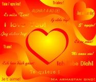 Tarjeta de felicitación del día del `s de la tarjeta del día de San Valentín Fotos de archivo libres de regalías