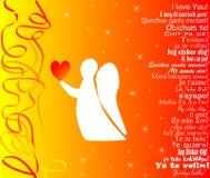 Tarjeta de felicitación del día del `s de la tarjeta del día de San Valentín Imagenes de archivo