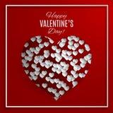 Tarjeta de felicitación del día del `s de la tarjeta del día de San Valentín Imagen de archivo